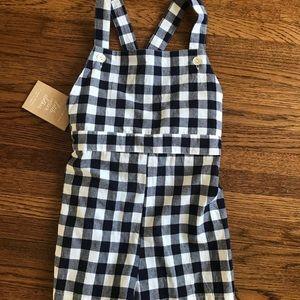 little cotton clothes Bottoms - Little Cotton Clothes Short Gingham Romper